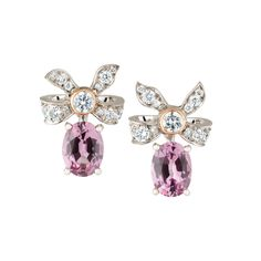 Fabergé Alix Spinel Earrings #Fabergé #diamond #spinel #earrings