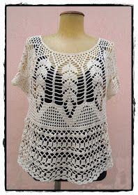 louca por linhas - crochet e patchwork: Bata Dolores