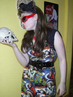 Horror dress original design by Devilish Designs By Gina