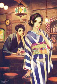Imagen anime original matsuo hiromi long hair tall image looking at viewer short hair 323781 es Anime Kimono, Manga Art, Manga Anime, Anime Art, Art And Illustration, Japanese Princess, Japanese Couple, Chibi, Art Asiatique