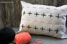 Stitched pillow cover craft