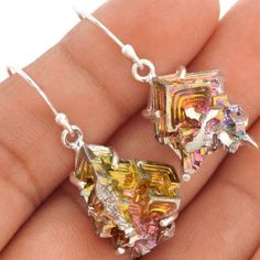13g-Bismuth-Crystal-925-Sterling-Silver-Earrings-Jewelry-SE79328