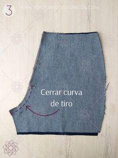 Cómo coser la cremallera para jean. – Nocturno Design Blog Sewing Hacks, Sewing Tutorials, Sewing Crafts, Sewing Projects, Clothing Patterns, Dress Patterns, Sewing Patterns, Couture Looks, Short Jeans