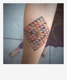 "Love all the detailed ""piecing"" of this quilt block tattoo"