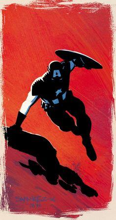 Captain America by Chris Samnee and Matt Wilson Marvel Comics, Marvel Heroes, Marvel Avengers, Comic Book Artists, Comic Artist, Comic Books Art, Bucky, Jack Kirby, Capitan America Comic