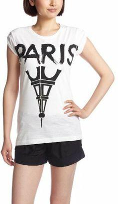 パリ Tシャツ / (ハピネス イズ ア テンダラーティー) Happiness is a $10 Tee WOMAN BASIC TEE PARIS on ShopStyle(ショップスタイル)