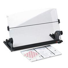 3M In-Line Adjustable Desktop Copyholder - Black / Clear - MMMDH630