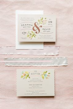 The Rickhouse wedding photos by Mikkel Paige photography in Durham, North Carolina. This urban venue has all the charm of the south for this bride and groom's spring wedding! The bride and groom's invitation is pictured, with copper foil. Click to see more from their day! #mikkelpaige #northcarolina #southernwedding #TheRickhouseDurham #rosegoldandpink #weddinginvitation