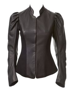 Would love to try this with a tweed or fun plaid panel inset - 113_0813_b_puff_sleeve_jacket_large