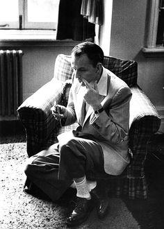 Frank Sinatra in his London flat - 1953
