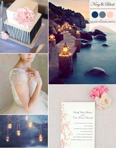 trending blush and navy blue wedding color palettes for fall 2014 #weddingcolors #fallweddingideas #elegantweddinginvites
