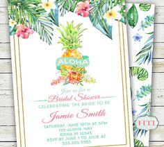 Luau Invitation Luau Bridal Shower Invitation by Hottomatoink2
