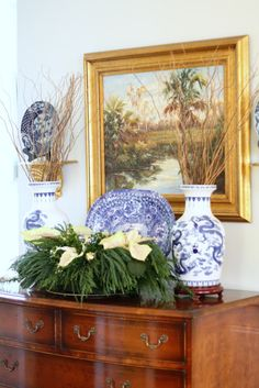 The Glam Pad: A Pink, Blue, and White Southern Christmas