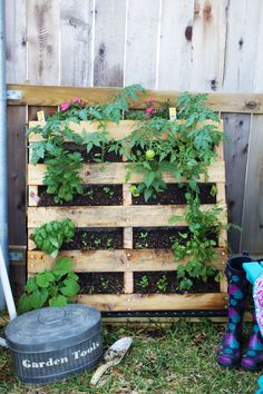 DIY Vertical Pallet Garden Tutorial by Taylor of Pink Heels Pink Truck created exclusively for Discover, a blog by World Market #DiscoverWorldMarket