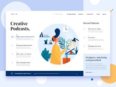 A podcast landing page designed for Chris + Jon.Illustration made by our talented team member Jangra-----------------Want to amplify your brand's roar?Write to us at h. Web Design Quotes, Web Design Tips, App Design, Design System, Homepage Website, Website Ideas, Web Portfolio, Photoshop, Ui Design Inspiration
