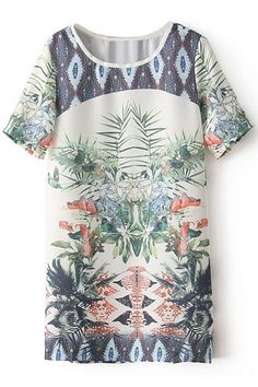 #ROMWE | Floral Print Loose Dress, The Latest Street Fashion #summeroutfit