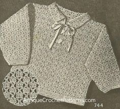 Crochet Sweater Pattern - Child's 'Jackie' Sweater