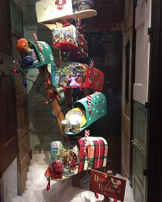 """YOU'VE GOT MAIL, """"Mailboxes make great props throughout the year and at Christmas Time"""", words/photo by Becky Tyre-Retail Details, pinned by Ton van der Veer"""