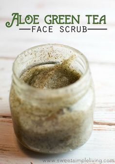 10 Homemade Face Wash and Face Scrub Recipes- 10 Homemade Face Wash and Face Scrub Recipes Aloe Green Tea Face Scrub - Homemade Face Wash, Homemade Face Scrubs, Homade Face Mask, Body Scrub Homemade, Homemade Face Cleanser, Body Scrub Recipe, Homemade Moisturizer, Homemade Soaps, Homemade Facials