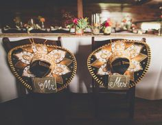 Mr. & Mrs. sombrero chairs - photo by NBarrett Photography