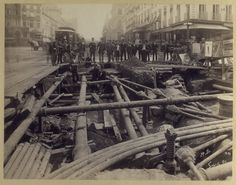 14th Street, September 1st,1891. Laying of trolley track. From the New York Public Library.