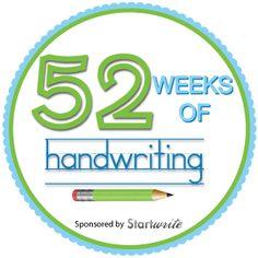 52 Weeks of Handwriting - themes, activities, songs, worksheets, and more.  #handwritingpractice
