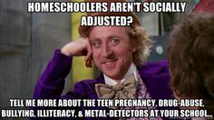 No offense meant to public-schoolers, of course.  But homeschoolers are awesome! (I've done both, and when I was a part of a homeschooling group, I socialized and went on a lot more educational field trips than in public school.)