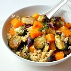 Warm Quinoa and Roasted Vegetable Salad   The Creekside Cook An inviting warm salad with healthy grains