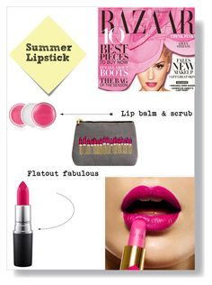 """""""My favorite summer lipstick"""" by fashionnero ❤ liked on Polyvore featuring beauty, Clinique, Emma Lomax, MAC Cosmetics and Post-It"""