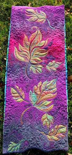 MarveLes Art Studios: autumn splendor ~ a hand painted quilt