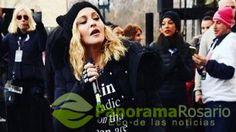 a cantante Madonna, en uno de los discursos más encendidos de la Marcha de las Mujeres en Washington...