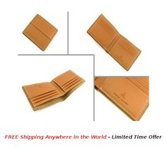 Fold Wallet with Classic 6 Card Holder;  Price: USD $30; Details: This Fold Wallet with Classic 6 Card Holder is made with quality brown leather. Each wallet is packed in Gift Box.  #rudolphAlexander #freeshipping #Online #OnlineShopping #wallet #seller #sellershop #sellers #gift #metal #giftbox #brown #leather #brownLeather #FoldWallet #cardHolder