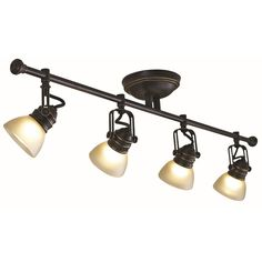 Shop allen + roth Tucana 4-Light Bronze Fixed Track Bar Light Kit at Lowes.com