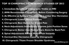 Top 10 Chiropractic Research Studies of 2013 www.DrHardick.com