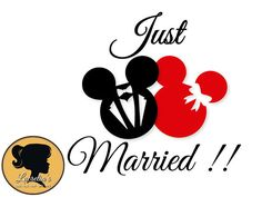 Mickey Mouse Tattoos, Mickey Mouse Art, Disney Mickey, Wedding Silhouette, Silhouette Cameo, Silhouette Design, Married Couple Tattoos, Disney Stencils, Minnie Mouse Cartoons