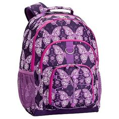 Gear-Up Light Purple Butterflies Backpack #pbteen