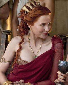Lucy Lawless as Lucretia Spartacus: Blood and Sand