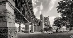 ------------------------------------------- Sydney Harbour Bridge -------------------------------------------- Sydney Harbour Bridge in Black and White. I just love the afternoon light captured here while families enjoying a picnic dinner. So I thought I'd give it the BW Treatment. -------------------------------------------- Focus Photography has a great Instagram site : Follow  @focusaustralia  displaying some of the best of Australia's photographers…