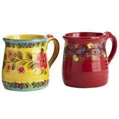 Tuscan Floral Mugs