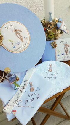 """Sara Creations - set botez personalizat, brodat manual, """" dream big little one """" : cutie trusou botez, lumanare nonflorala , trusou botez si carte amintiri ( guest book )"""