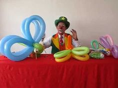 Toy Magic y sus libelulas - YouTube Baloon Art, Twisting Balloons, Ballon Decorations, Balloon Crafts, Balloon Flowers, Balloon Animals, Art Party, Flower Wall, Projects To Try