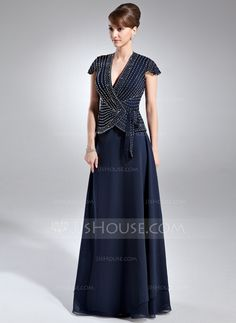 Mother of the Bride Dresses - $172.99 - A-Line/Princess V-neck Floor-Length Chiffon Mother of the Bride Dress With Beading (008005936) http://jjshouse.com/A-Line-Princess-V-Neck-Floor-Length-Chiffon-Mother-Of-The-Bride-Dress-With-Beading-008005936-g5936