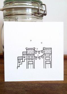 hand drawn street scene 'lights' modern urban by lightboxing