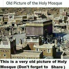 An old pic of khana kaba. Mecca Madinah, Mecca Masjid, Masjid Al Haram, Islamic Pictures, Old Pictures, Religious Pictures, Medina Mosque, Sufi Saints, History Of Islam