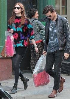 Karen Gillan and Matt Smith had a day off from filming in New York and went shopping together