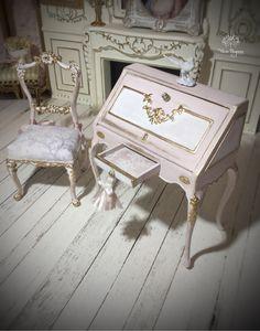 Casa De Muñecas Caoba Imperio Francés Mesa De Centro Mobiliario De Sala En Miniatura