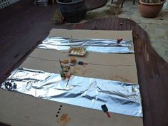 """Invitation to paint on tinfoil at Blue House International School ("""",)"""