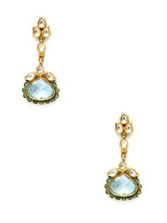 Amrapali  Diamond & Blue Topaz Geometric Teardrop Earrings