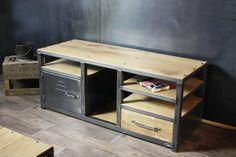 Meuble industriel bois métal sur mesure : Meubles et rangements par micheli-design