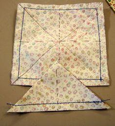 Fibermania: February 2009 - Tutorial: 8 Half Square Triangles From One Square.